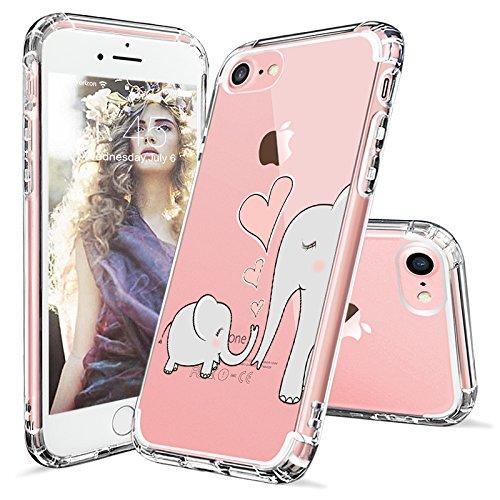 Coque iPhone 7, MOSNOVO Cute Series Coque iPhone 7 Transparente Rigide Motif Arrière avec TPU Bumper Gel Coque de Protection Pour iPhone 7 (4.7 Pouce) (Sushi) Cute Elephant