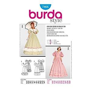 Burda B7466 Patron de Couture Robe Style Louis-Philippe 19 x 13 cm