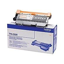 Brother TN2220 Toner Originale Alta Capacità, fino a 2600 Pagine, per Stampanti Brother Serie 2200, Serie 7000, FAX2840, FAX2845, FAX2940, Nero