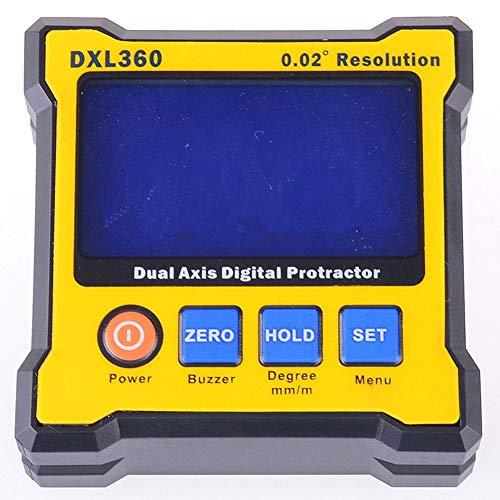 AimdonR DXL360 Digitaler Winkelmesser Zwei Achsen Digitaler Winkelmesser mit 5-seitiger magnetischer Basis