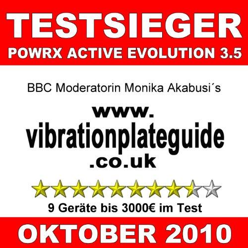 POWRX® Active Evolution 2.7 Vibration Plate Vibrationsplatte Vibrationsgerät TESTSIEGER jetzt inkl. großem Zubehörpaket (Grau) -