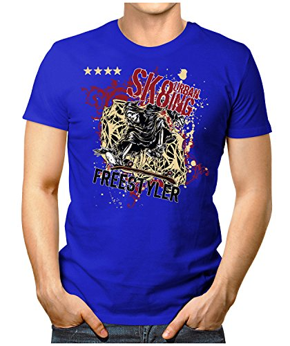 PRILANO Herren Fun T-Shirt - SKATING-FREESTYLER - Small bis 5XL - NEU Blau