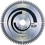 Bosch 2608640447 Lame de scie circulaire Multi Material 216 x 30 x 2,5 mm, 80, 1 pièce