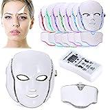 Biutee 7 Colores LED Máscara Fotón Tratamiento Terapia de Luz para el Cuidado Facial LED Fotón Máscara