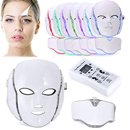 Biutee 7 Colores LED Máscara Fotón Tratamiento Terapia