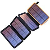 PEALIKER Solar Charger 25000mAh Portable Power Bank with Dual USB 2.1A Output 4