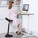 SONGMICSSitz-Steh-Hocker,ergonomischeStehhilfe,Bürohocker,Sitzhöhe:63-88cm,mitAnti-Rutsch-Bodenring,fürStehpult,OSC02GY - 3