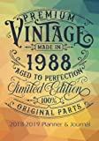 Premium Vintage Made In 1988 Aged To Perfection All Original Parts: 2018 - 2019 Calendars, Journal, Planners & Personal Organizers - Organization - ... Gifts For Women, Books, Journals, Planners)