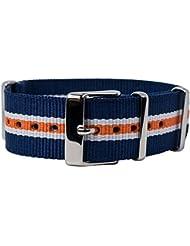 Timex Weekender OTAN de banda reloj de pulsera durchzug banda cinta de tela con correas de metal 20mm Multicolor tw7C07200