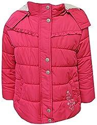 Outburst - Baby Mädchen Steppanorak mit Kapuze Fleecefutter und Einhorn Stickerei, pink