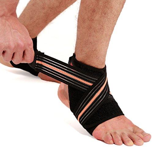 millya Verstellbare Knöchelbandage atmungsaktiv elastischer Knöchel Hosenträger Neopren Sleeve für Walking, Laufen, Verstauchungen, Arthritis, Achilles, schwarz