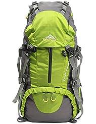outerdo 50L profesional adultos–Mochila de trekking senderismo Mochila de viaje con protector de lluvia para Outdoor Viajes Camping escalador 60x 30x 20cm, verde