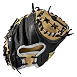 Wilson A2000 SS Baseballhandschuh Serie, Herren, 2019 A2000 M1 SuperSkin 33.5' Catcher's Baseball Mitt - Right Hand Throw, Blonde/White/Black - Catcher's Model, 33.5'