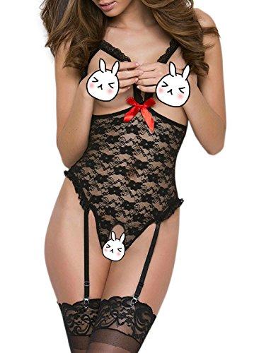Sexy Dessous Erotik Bodysuit Damen Nachthemd Nachtwäsche Negligee Body Spitze Große Größen