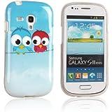 tinxi® Design Schutzhülle für Samsung Galaxy S3 mini i8190 Hülle TPU Silikon Rückschale Schutz Hülle Silicon Case mit zwei kleine Eulen Owl Muster