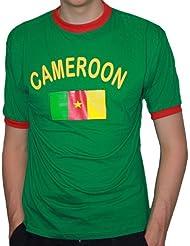 BRUBAKER Herren oder Damen Kamerun Fan T-Shirt Grün Gr. S - XXXL