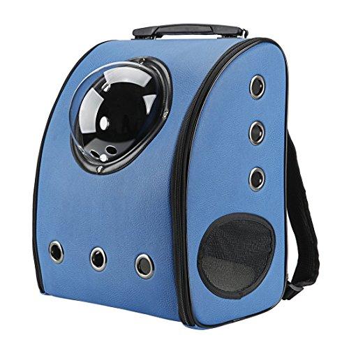 IACON Backpack Pet Carrier Haustier Rucksack Brust Tragetasche Transportrucksack für Hunde & Katzen (Blue) (Auf Rädern Traveler Rucksack)