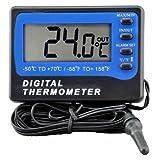 Thermometer - VICI TM803 Kuehlschrank Gefrierschrank Digitaler Alarm Thermometer Temperaturmessgeraet