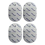 4 oval Compatible electrodes PANASONIC - Pads for TENS EMS devices - Size 70x50mm - axion brand quality