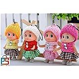 P S Retail Mini Doll For Girls - 4Pcs (8 Cm)
