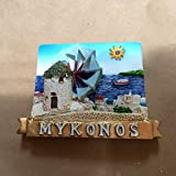 Grecia-Mykonos'Island'in resina a forma di mulino, Calamita da frigorifero