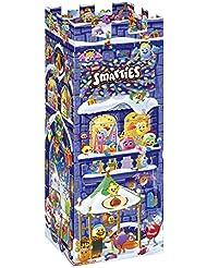 Nestle Smarties Adventskalender in Ritter-Burgen Form, Ideal für Kinder, Bunte Vielfalt an Schokoladen-Figuren, Schoko-Linsen und Pralinen, 1er Pack (227g)