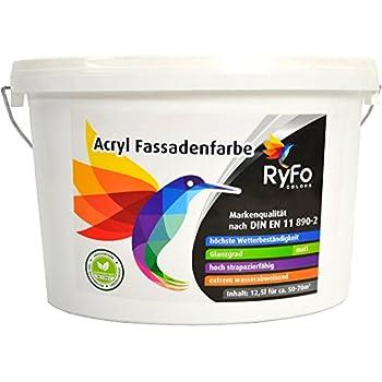 ryfo colors silikonharz fassadenfarbe 12 5l gr e w hlbar hochwertige silikon au en farbe. Black Bedroom Furniture Sets. Home Design Ideas