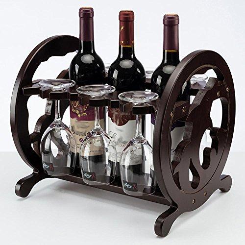 Z&YQMassivholz Weinregal Haushalt Kreative Wohnzimmer Hause Wein Glas - Wein-glas-vitrine