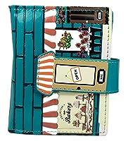 Informazioni prodotto: Stravagante Portafoglio di pelle morbida stampata e ricamata similpelle (PU) Misura: 9,5 x 11,5 cmScomparti: -7 scomparti per carte di credito -1 scomparto finestrella per foto -2 scomparti aperti -1 scomparto per banco...