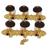yibuy Golden aleación de zinc 3L3R guitarra Tuning Clave Peg sintonizadores de guitarra clavijas para guitarra clásica Pack de 2