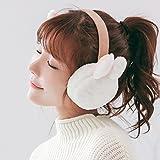 Geburtstag Festival Valentinstag Geschenk Weihnachten Rabbit Ears flauschige Ohrenschützer warme Damen montagedeckung Studentinnen falten können weisse Frauen