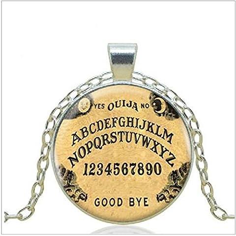 Ouija Board Logo Collana con ciondolo vendita calda a mano Vintage Catena Choker Dichiarazione Collana Arte Collana