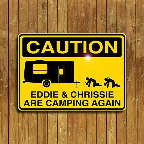 CELYCASY Personalisiertes Camping-Schild, Aluminium, 30,5 x 45,7 cm