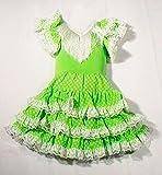 Vestido sevillana tres volantes niña - Único, 3 a 5 años