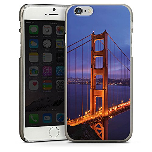 Apple iPhone 5s Housse Étui Protection Coque Pont du Golden Gate San Francisco Amérique CasDur anthracite clair