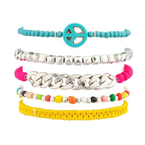 Lux accessori turchese peacemulti color Seed Bead catena Woven Braid Braccio candybff Best Friend Forever Braccialetto dell'