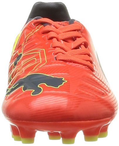 Puma Evopower 3 Ag Jr, Chaussures de football garçon Orange (Fluro Peach/Blue/Yellow)