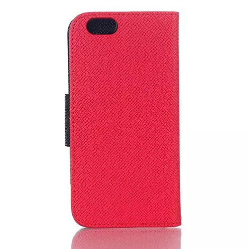 iPhone Case Cover IPhone 6 6s cas, mélange et match de couleur avec bouton de verrouillage frontal couverture de silicium coloré pour IPhone 6 6s ( Color : Blue , Size : IPhone 6 6S ) Red