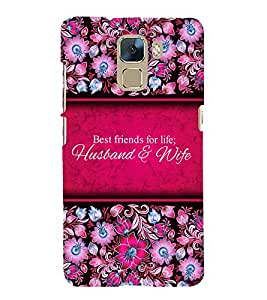 Best Friends Of Life 3D Hard Polycarbonate Designer Back Case Cover for Huawei Honor 7