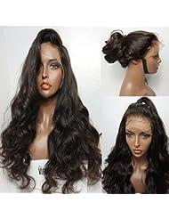 Maycaur # 4Couleur Marron Perruque de cheveux Long ondulés perruque Lace Front synthétique pour Mode Femme