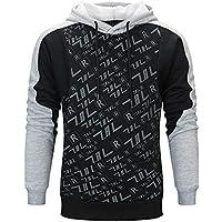 Selou Herrenbekleidung Herbst und Winter print lange Ärmel Lässiges Sweatshirt Student Mode Mantel Das neueste Farbnähshirt für Jungs Kordelzug Loser schicker Hoodie Dünnes T-Shirt