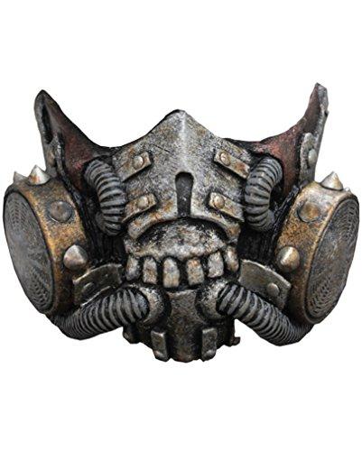 Doomsday Latex Gasmaske SciFi Halbmaske (Hochwertige Sci Fi Kostüme)