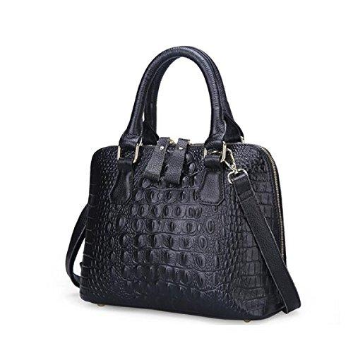Borsa Di Coccodrillo Borsa In Pelle Modello Signora Messenger,Sapphireblue black