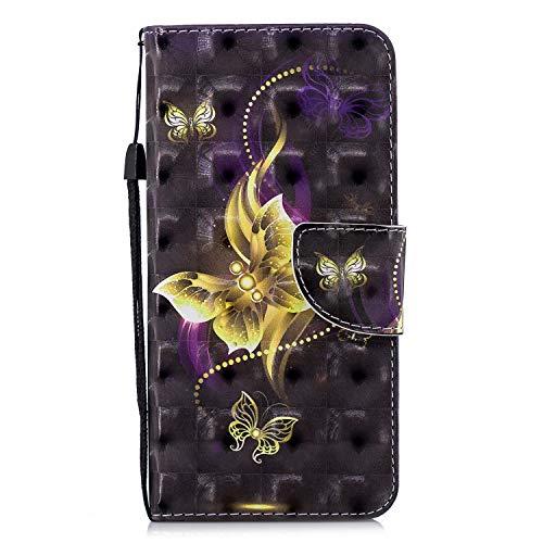 NEXCURIO Huawei [Mate 10 Pro] Hülle Leder, Handyhülle Tasche Leder Flip Case Brieftasche Etui mit Kartenfach Stoßfest Kratzfest Schutzhülle für Huawei Mate10 Pro - NEHEX16704#4