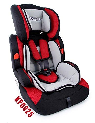Kinderautositz Autokindersitz 9-36 kg Autositz ROSA oder ROT Kindersitz Gruppe 1 2 3 Farbwahl NEU (KP0025)