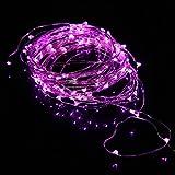 Ryham Fairy LED Schnur beleuchtet flexibles Kupferdraht -Leuchten 9.8ft / 3m 30 LED wasserdichte Sternen Schnur-Lichter f¨¹r Weihnachten Hochzeit und Partei, Rosa