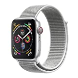 Apple Watch Series 4 - Reloj inteligente (GPS + cellular) con caja de 40 mm de aluminio en plata y correa Loop deportiva en color nácar