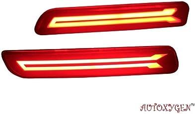 AUTOXYGEN Back Bumper Rear Reflector DRL_1 Maruti Suzuki Baleno/Breeza/Ciaz/Ertiga/New Swift Dzire/Scross/Ritz/SX4 - Set of 2 Pcs