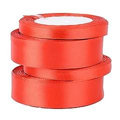 Idea Regalo - 91mt Nastro Raso Rosso Nastrini Poliestere Decorativo per Fai da Te Regalo Matrimonio Bomboniere Natale