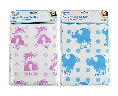 EASY CLEAN BABY CHANGING MAT 2 COLOURS TRAVEL NAPPY CHANGE BOY GIRL 51EFAQn6esL